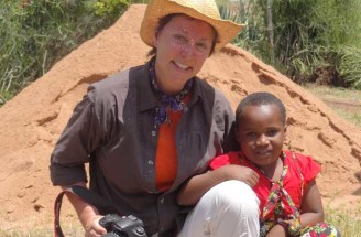 """Christel Nani in Africa. """"Kindness is the language the deaf can hear and the blind can see."""" M. Twain"""
