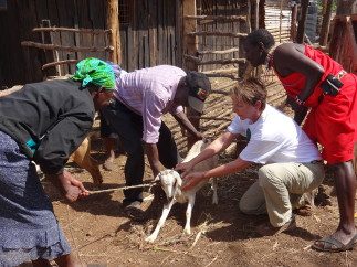 "Christel is not the ""goat whisperer."" But she's pretty quick."